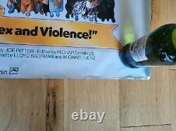 Toxic Avenger quad movie poster cinema please read description Troma film