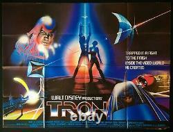 Tron Original Quad Movie Cinema Poster Walt Disney Sci-fi Classic 1982