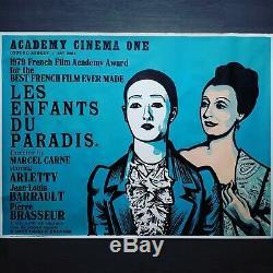 UK QUAD 1970's film poster'LES ENFANTS DU PARADIS' PETER STRAUSFELD ART