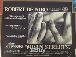 UK Quad Film Poster'MEAN STREETS' Keitel, De Niro, Scorsese ROLLED RARE