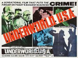 UNDERWORLD, U. S. A. (1960) British quad poster for gangster revenge film