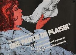 UNE PARTIE DE PLAISIR British Quad movie poster CLAUDE CHABROL FOOT FETISH 1977