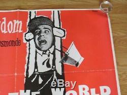 UP IN THE WORLD Norman Wisdom ORIGINAL R1950's CINEMA UK QUAD MOVIE POSTER RARE