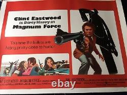 Uk Quad Orig Movie Poster Linen Bk Dirty Harry Clint Eastwood- Magnum Force Nm