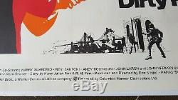Uk Quad Original Movie Poster Clint Eastwood-'dirty Harry' Linen Backed Vf