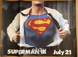 Ultimate Superman Collection -Original British UK Quad Cinema Movie Poster Lot