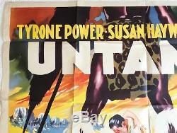 Untamed Original UK Quad Film Poster 1955 Tyrone Power, Susan Hayward, Rare