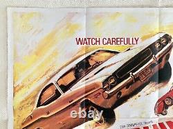 Vanishing Point Original 1971 Quad Movie Poster Barry Newman Tom Chantrell Art