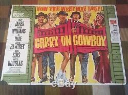 Very Rare Original Carry On Cowboy Film Quad Poster