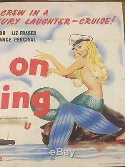 Very Rare Original Carry On Cruising Film Quad Poster