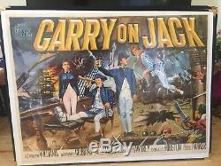 Very Rare Original Carry On Jack Film Quad Poster