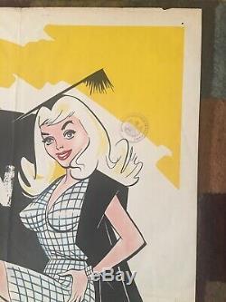 Very Rare Original Carry On Teacher Quad Film Poster