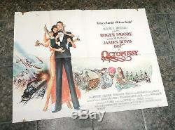 Vintage Original Film Quad Poster James Bond Octopussy 1983