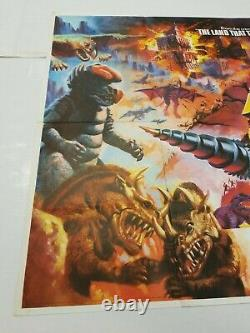Vintage Rare At The Earths Core 30x40 UK Quad Folded Authentic Movie Poster