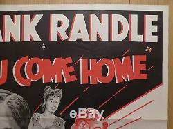 WHEN YOU COME HOME (1948) original UK quad film/movie poster, comedy, Frank Randle