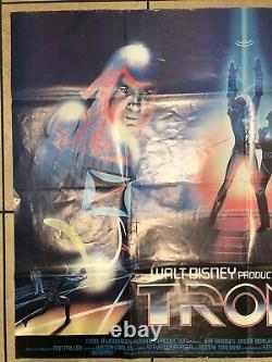 Walt Disney Tron Original UK Movie Quad + Teaser Promo Review Quad (1982)