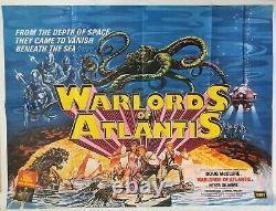 Warlords Of Atlantis Original Uk Quad Film Poster 1978