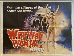 Werewolf Woman Original UK British Quad Film Poster (1976) X Cert Rare