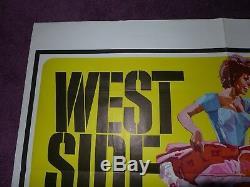 Westside Story 1960's original vintage quad movie cinema poster 40 x 30
