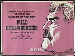 Wild Strawberries ORIGINAL Quad Movie Academy Cinema Poster Ingmar Bergman RARE