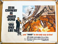 YOU ONLY LIVE TWICE linen quad 1967 McCarthy art of Connery AS JAMES BOND