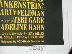 Young Frankenstein British Quad movie poster Mel Brooks famous comedy monsters