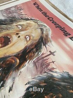 Zombie Creeping Flesh UK Quad LINEN BACKED (1980) Original Film Poster