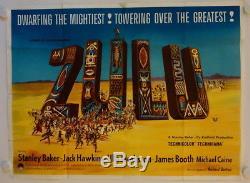 Zulu original release british quad movie poster