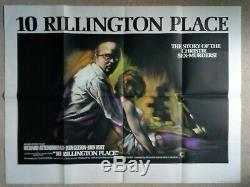 10 Rillington Place Originale 1971 Affiche Du Film Au Royaume-uni Quad