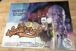 1979 The Wanderers Affiche Originale Britannique De Quad Quad Film Vg Plié Cinéma Des Années 1970