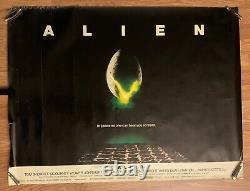 1979 Vieille Affiche De Cinéma British Quad Alien 40 X 30