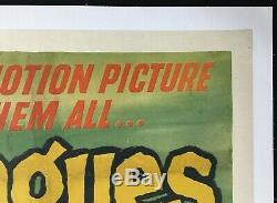 20,000 Leagues Under The Sea Quad Original Affiche Du Film Entoilée Disney