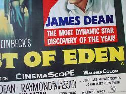 A L'est D'eden, Affiche De Film Sur Le Film De Lin Quadruple Britannique Datant De 1955, James Dean