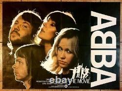 Abba Le Film Royaume-uni Quad Affiche Originale 40 X 30 Pouces