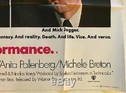 Affiche Britannique Originale De Film Britannique De Performance 1970 Mick Jagger