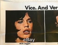Affiche Britannique Originale De Film Britannique Quad Performance 1970 Mick Jagger