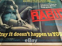 Affiche De Cinéma Britannique Quad Cinema, Rabid-original, David Cronenberg, Vidéo Nasty