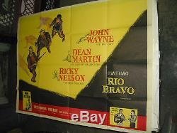 Affiche De Cinéma British Quad De Rio Bravo / Orig (john Wayne / Howard Hawks)