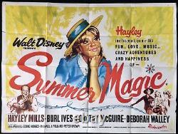 Affiche De Cinéma D'été Magic Original Quad Walt Disney Hayley Mills 1963