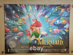 Affiche De Cinéma De La Petite Sirène Du Royaume-uni Quad Walt Disney Cinema
