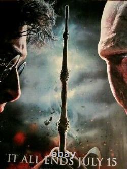 Affiche De Cinéma Du Quad Original- Harry Potter Deathly Hallows Partie 2-it All Ends
