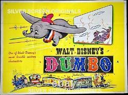 Affiche De Cinéma Dumbo Original Quad Early Rr Disney Animation Classic 1941