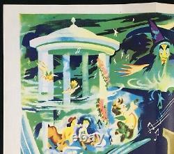 Affiche De Cinéma Fantasia Original Quad Walt Disney Rr