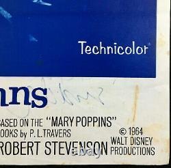 Affiche De Cinéma Mary Poppins Quad Originale Julie Andrews Walt Disney 1964