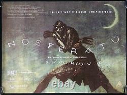 Affiche De Cinéma Nosferatu Original Quad Bfi 2013 Réédition Murnau Dracula Very Rare