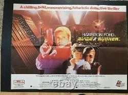 Affiche De Cinéma Originale Blade Runner 1982 British Quad Harrison Ford Vnc