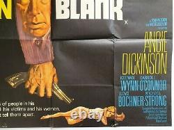 Affiche De Cinéma Originale D'uk Quad De Rare Point Blank 1967 Lee Marvin