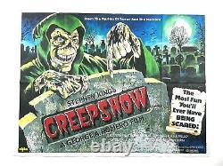 Affiche De Cinéma Originale De Creepshow Quad Horror 40x30 Stephen King George Romero Nouveau