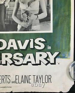 Affiche De Cinéma Originale De L'anniversaire Quad Bette Davis Hammer Studio Chantrell