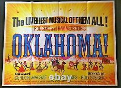 Affiche De Cinéma Originale De L'oklahoma Quad Rogers Hammerstein Shirley Jones 1955